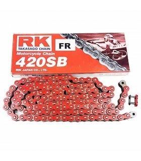 CADENA RK REFORZADA 420SB - 136 ESLABONES, ROJO