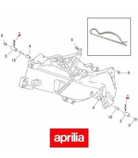 APRILIA RS125 (96-05) FAIRING BUSH SPLIT PIN