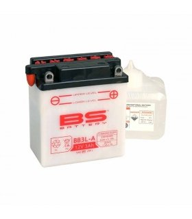 BATTERY MOTORCYCLE BS YB3L-A INCLUDING ACID PACK