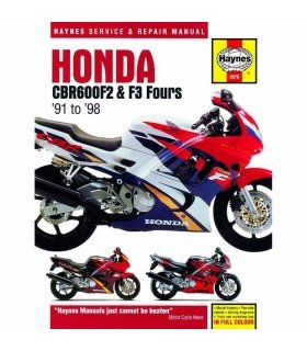 HAYNES REPAIR MANUAL HONDA CBR600F2 & F3 FOURS 91-98 ENGLISH
