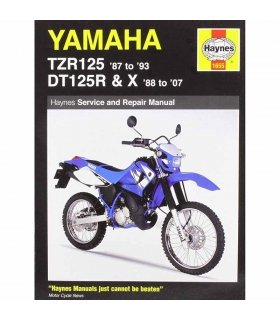 HAYNES REPAIR MANUAL YAMAHA TZR125 (87-93) & DT125R/X ENGLISH
